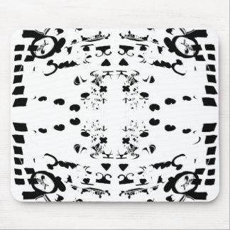 Black Shapes Mouse Pad