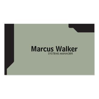 Black Shapes Olive Green Pack Of Standard Business Cards