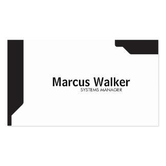 Black Shapes Pack Of Standard Business Cards