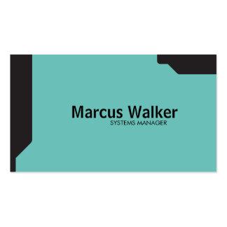Black Shapes Teal Pack Of Standard Business Cards