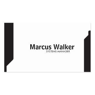 Black Shapes variation 2 Pack Of Standard Business Cards