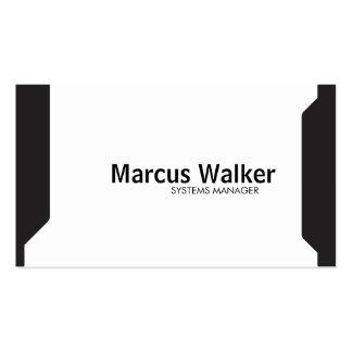 Black Shapes (variation) Pack Of Standard Business Cards