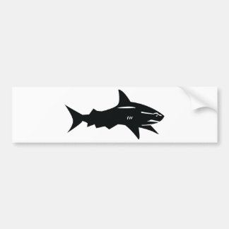 black shark bumper sticker