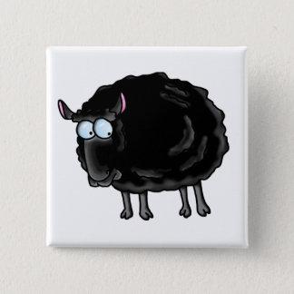 Black sheep 15 cm square badge