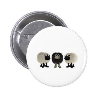 black sheep 6 cm round badge