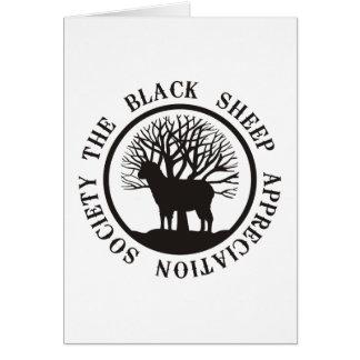 Black Sheep Appreciation Society Greeting Card