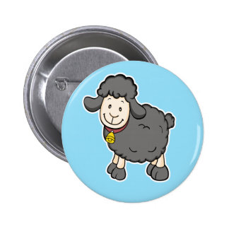 Black Sheep Blue Button