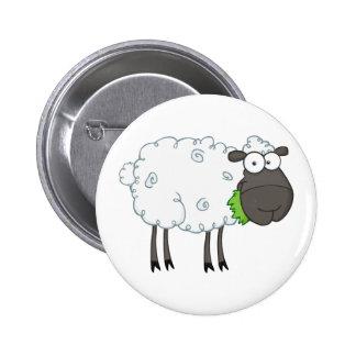 Black Sheep Cartoon Character 6 Cm Round Badge