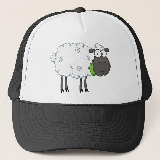 Black Sheep Cartoon Character Cap