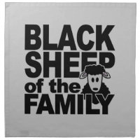 Black Sheep cloth napkins