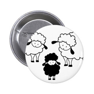 Black sheep family 6 cm round badge
