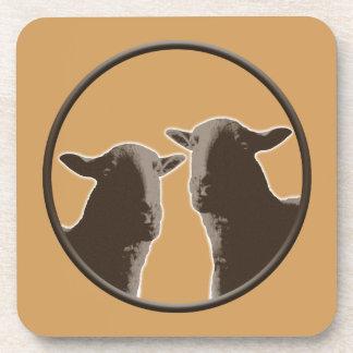 Black Sheep gear in sepia Coasters