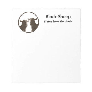 Black Sheep gear in sepia Notepad