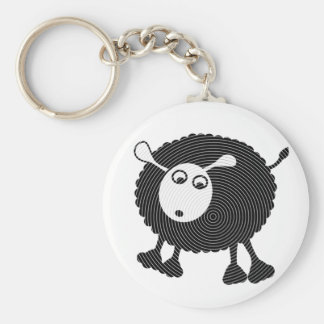 Black Sheep Gift-Keychain Basic Round Button Key Ring