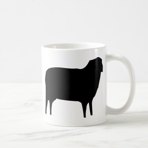 black sheep icon basic white mug