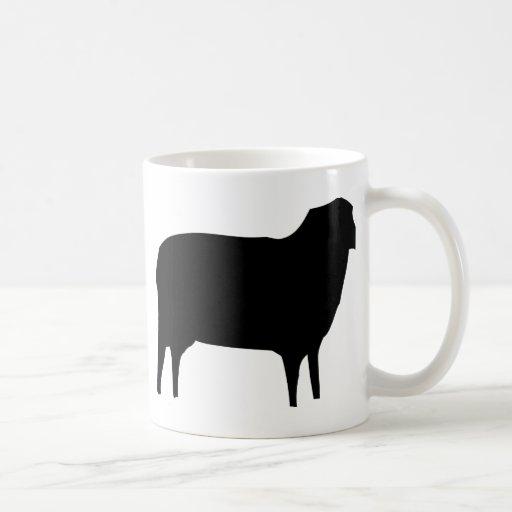 black sheep icon classic white coffee mug