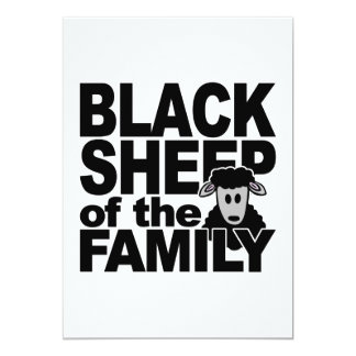 BLACK SHEEP invitation, customize Card