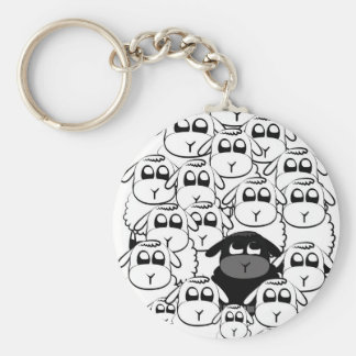 Black sheep key ring
