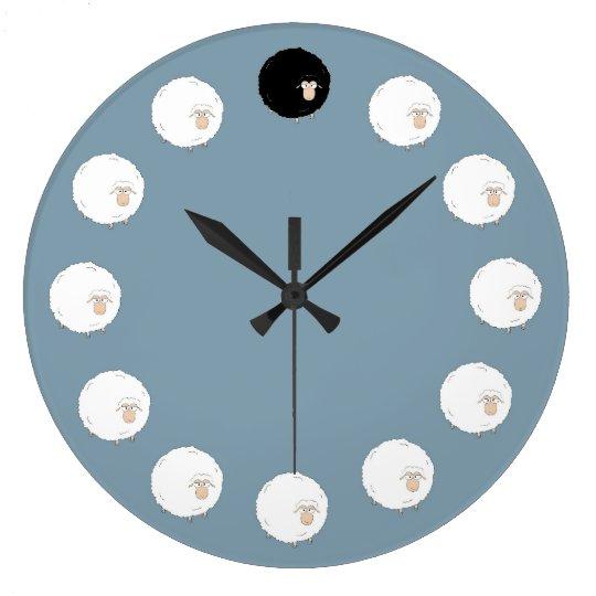 Black sheep large clock