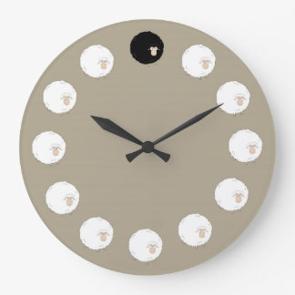Black sheep large clock