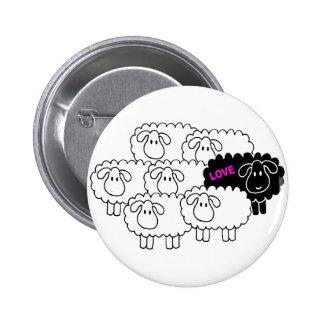 Black Sheep (Love) 6 Cm Round Badge