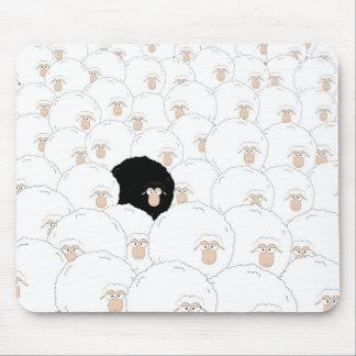 Black sheep mouse mat