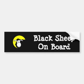 Black Sheep On Board Bumper Sticker