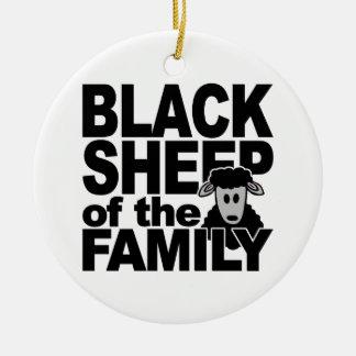 BLACK SHEEP ornament, customize Christmas Ornament