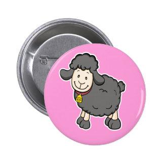 Black Sheep Pink Button