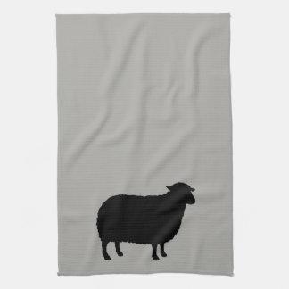 Black Sheep Silhouette Tea Towel