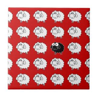 Black Sheep Small Square Tile