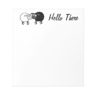 """Black Sheep White Sheep 5.5"""" x 6"""" Notepad 40 pages"""