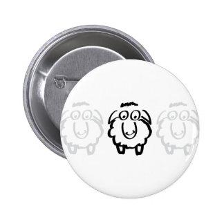 black sheep white sheeps 6 cm round badge
