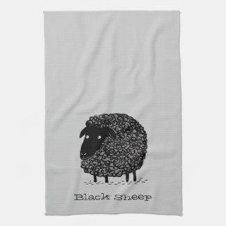 Black Sheep with Custom Text Tea Towel