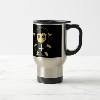 Black Sheep with St. Peter's Cross Stainless Steel Travel Mug