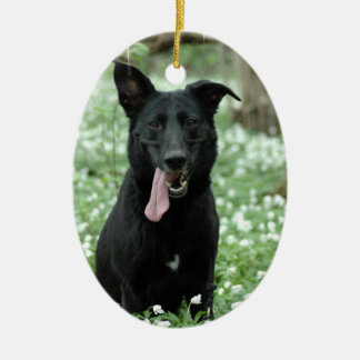Black Shepherd Ornament