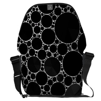 Black Shiny Bling Pattern Courier Bags