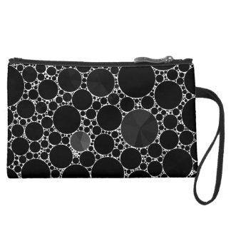 Black Shiny Bling Pattern Wristlets