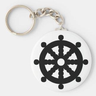 Black Ship s Wheel Keychain