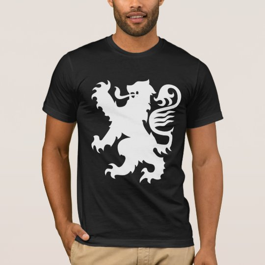Black Shirt Heraldry White Lion