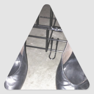 BLACK SHOES AND CAGE TRIANGLE STICKER