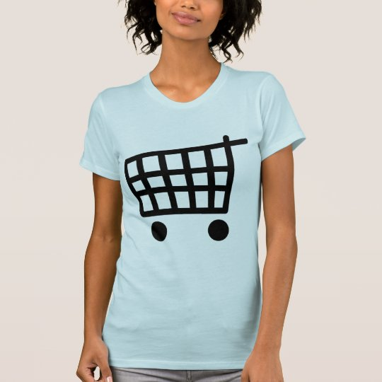 black shopping trolley T-Shirt