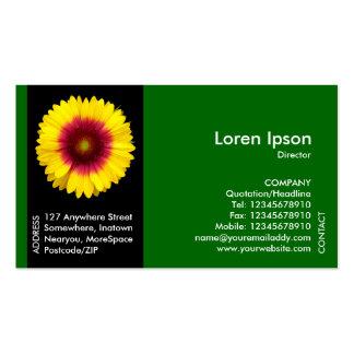 Black Side Band Flower - Blanket Flower - Green Pack Of Standard Business Cards