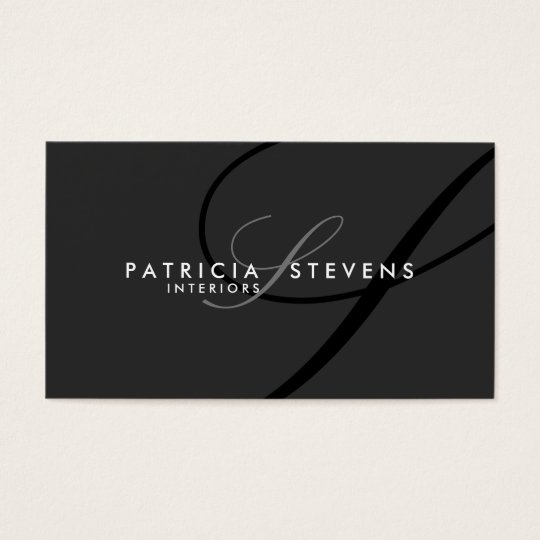 Black Signature Elegant Modern Business Cards