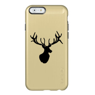Black Silhouette Antlered Buck iPhone Case Incipio Feather® Shine iPhone 6 Case