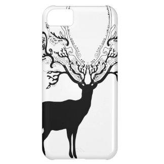Black Silhouette Deer iPhone 5C Cover
