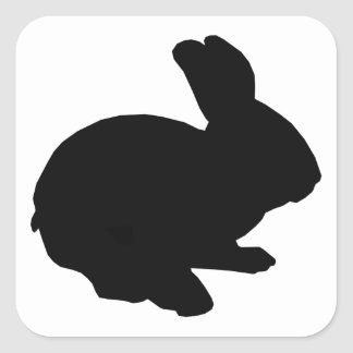 Black Silhouette Easter Bunny Stickers