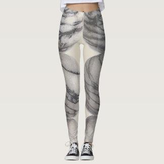 Black Silk stoned Leggins Leggings