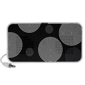 Black Silver Abstract Mini Speakers