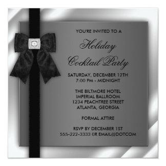 Black Silver Black Tie Party Black Tie Formal Card